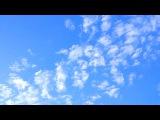 Перистые облака. Красивое Небо. Футаж Облака на Голубом Небе. Футажи для видеомонтажа