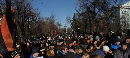 73-ю годовщину освобождения области от гитлеровцев в Луганске отметили многотысячным антифашистским маршем