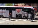 Llegada del SevillaFC a Mestalla