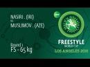 Round 1 FS - 65 kg: M. NASIRI (IRI) df. M. MUSLIMOV (AZE), 7-6