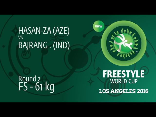 Round 3 FS - 61 kg: B. BAJRANG (IND) df. J. HASAN-ZADA (AZE), 9-3