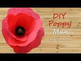Paper poppy.мак из гофрированной бумаги. DIY