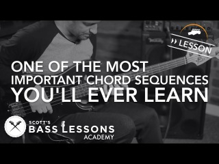 One of the Most Important Chord Sequences You'll Ever Learn (The II V I) /// Scotts Bass Lessons