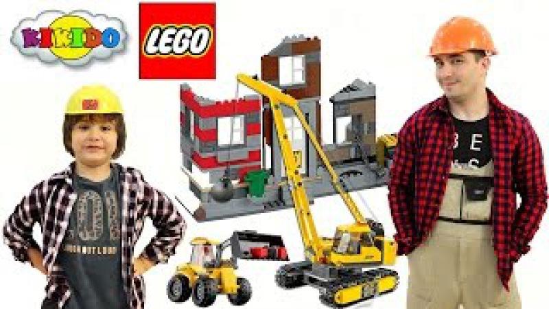 Лего 60076 Снос Старого Здания. Сборка и обзор конструктора. Поход на стройку. Кикидо