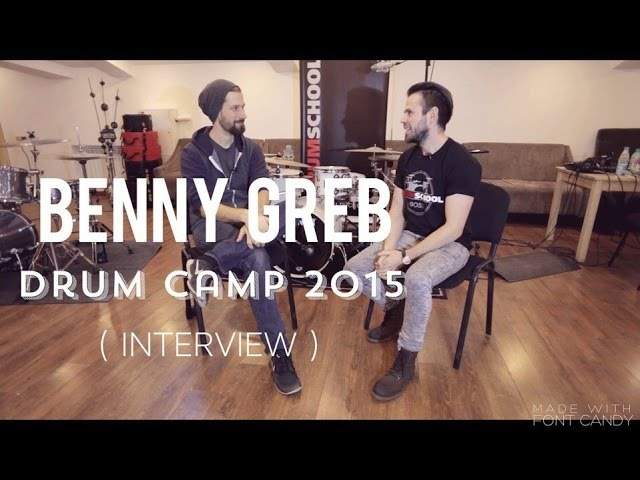 Benny Greb Drum Camp 2015 / Moscow ( Interview)