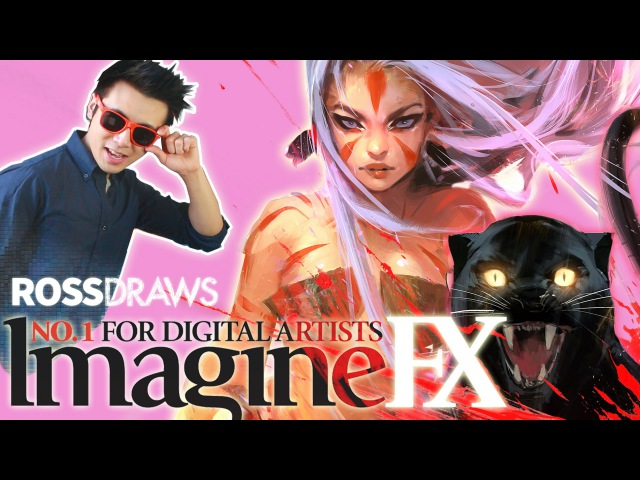 RossDraws ImagineFX Anniversary COVER