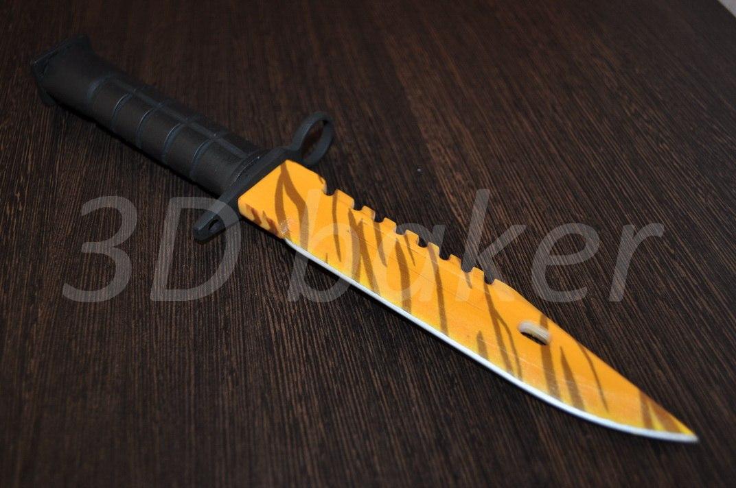 Csgo m9 bayonet tiger tooth knife plastic replica cs go - Replica mobel legal ...
