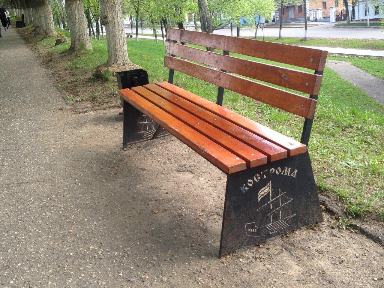 Городская скамейка