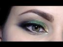 Яркий зелёный макияж с тенями от Тамми Тануки - Наездница Лесного Дракона