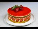 Клубничный торт Фрезье ✧ Fraisier Torte Fraisier Cake English Subtitles