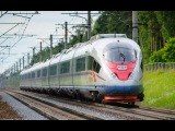 Сапсан до СПБ в ритме 250 км/ч. High-speed trainsurfing 250 km/h.