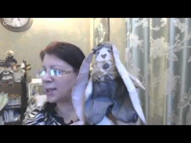 Делаем пасхальных заек в технике Грунтованный текстиль. Анастасия Голенева