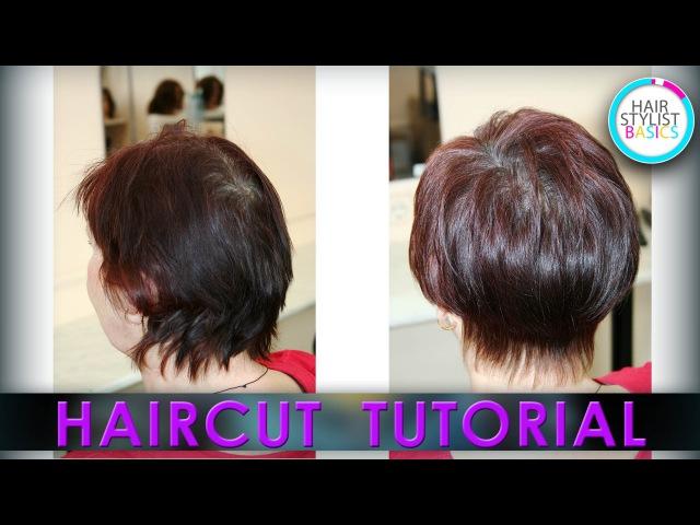 Haircut Tutorial: Women's Short Haircut (Короткая женская стрижка Шапочка)