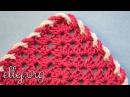 Обвязка края переплетенными цепочками крючком. Crocheted edge with chains