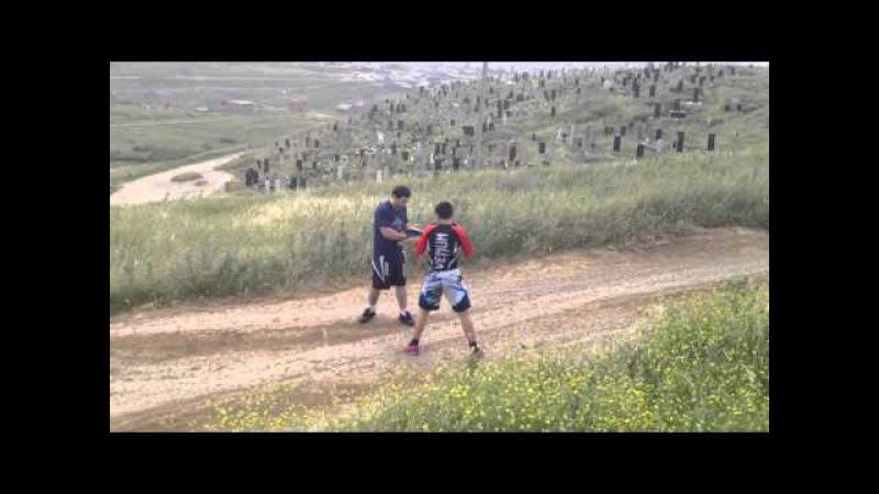 Тренировка молодых бойцов ММА в горах Дагестана/ Training young MMA fighters in Dagestan, Russia