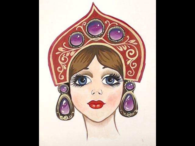 Onestroke, How to paint the gems, как нарисовать драгоценные камни двойным мазком, irishkalia