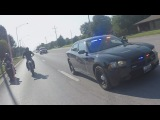 Street Bike VS POLICE CHASE Motorcycle Gets Away COPS Chasing Biker RUNS From Patrol COP CAR 2016
