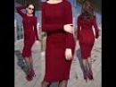 Бесплатный МК часть 2 по вязанию спицами облегающего платья Марсала: вяжем рисун