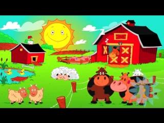 Песенки для малышей детские песни Веселая ферма развивающий мультик HD Раз Два Три ТВ