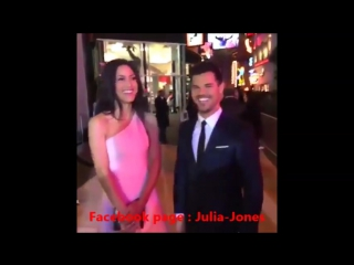 Julia Jones  Taylor Lautner - The Ridiculous 6 Premier, Netflix (November 30 2015)