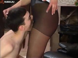 Секс в колготках с сестрой русское