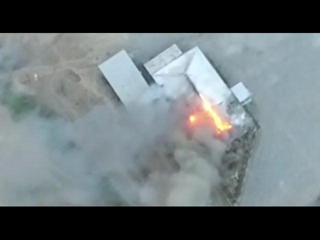 Retaliation of an Azerbaijani islamists supporting military base by Armenian forces