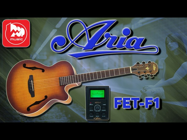 ARIA FET-F1 - электроакустика под полуакустическую гитару