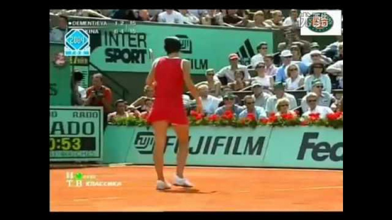 Anastasia Myskina vs Elena Dementieva - 2004 FO Final - Highlights