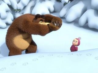 Следы невиданных зверей. Маша и Медведь 1 сезон 4 серия