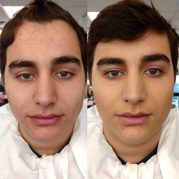 Макияж для мужчин, Правильный макияж, Дневной макияж