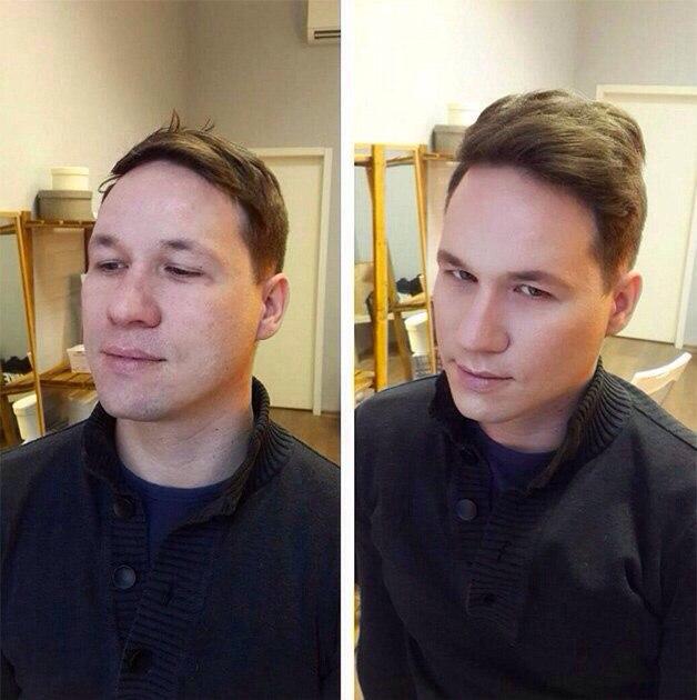 Макияж фото, Профессиональный макияж, Выполнение мужского макияжа