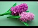 Hiacynt z bibuły krok po kroku How to make hyacinth flower DIY