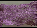 Ленточное кружево по схеме. Кружево крючком. Вязание кружева. Lace, tape. Crochet