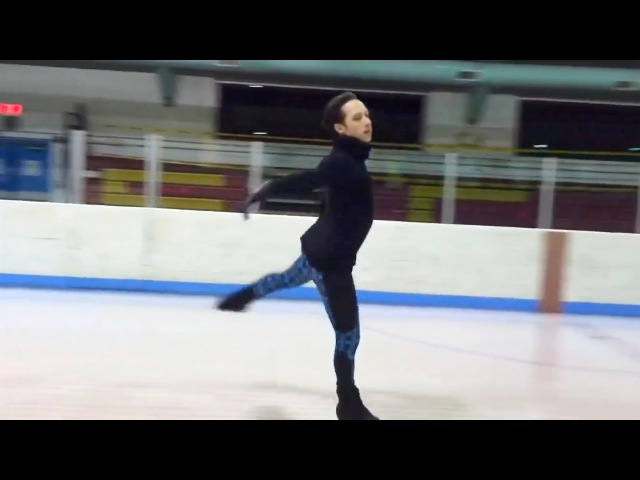 Johnny Weir Double Axel for 'Art2Skate' at the Skating Club of Wilmington