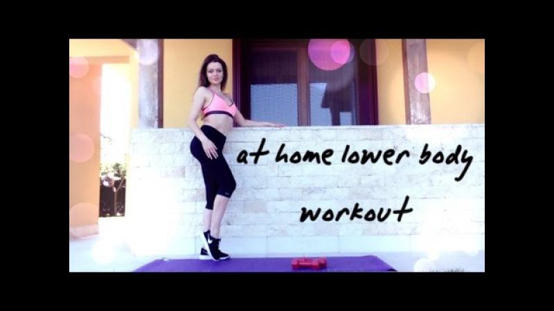 Тренировка для НОГ и ЯГОДИЦ   упражнения для ДЕВУШЕК в домашних условиях!   LEGS BU...