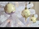 Gömbdísz repesztéssel és viaszpasztával Christmas ornament with crackle and wax paste