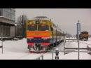Дизель-поезд ДР1А-185 в ст. Валга / DR1A-185 at Valga station