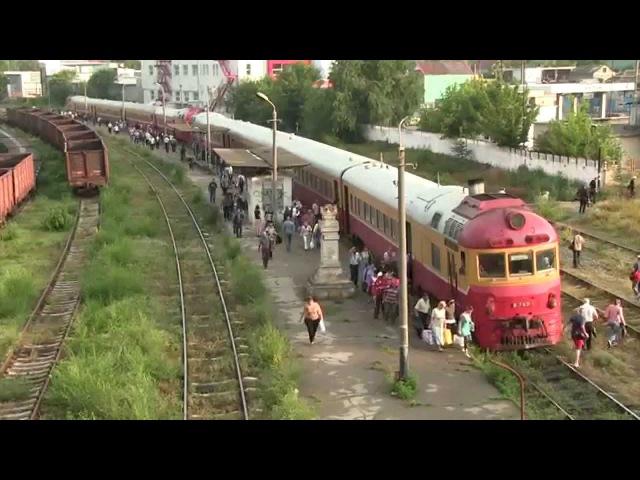 [ЧФМ] Двойной дизель-поезд Д1 нa ст. Вистерничень [CFM] Double D1 DMU at Visternichen