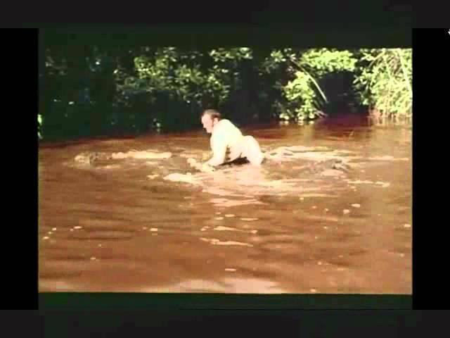 Live and Let Die Crocodile Jump attempts-Ross Kananga in Jamaica 4 James Bond Roger Moore stunt