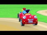 Развивающий 3Д мультфильм для малышей.  Машинка и Вертолетик строят Детский Бассейн, мультики Зим Зум