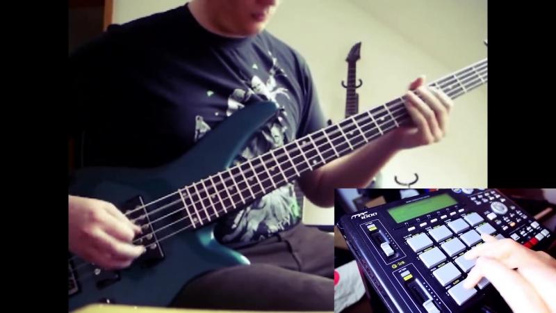 Skrillex - Rock n Roll (Djent Metal Cover on Bass Guitar MPC)