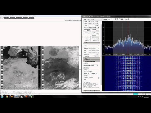 RECEIVING NOAA 19 RTL-SDR APT DECODE, SDRSHARP, WXTOIMG, ORBITRON, AUTO-DOPPLER