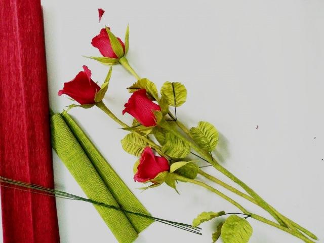 D.I.Y - How to make real paper flower - Roses - Làm hoa hồng bằng giấy nhún