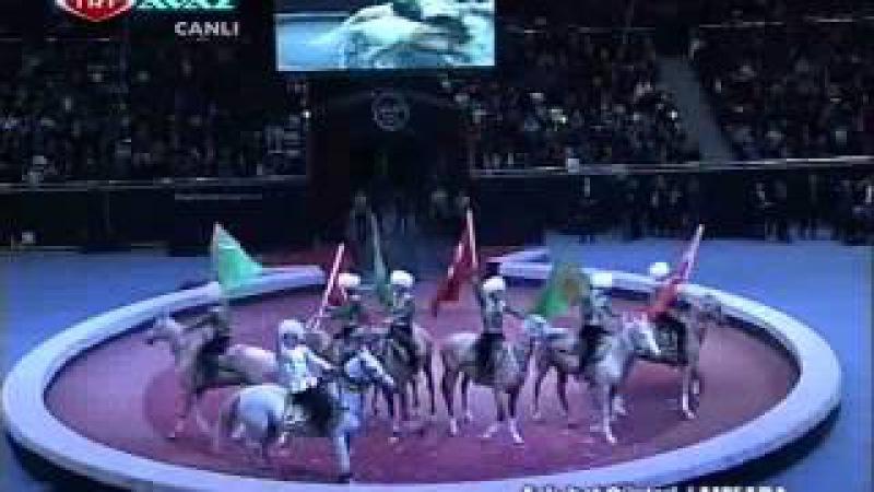 Türkmenistan Devlet Sirki- Ahal teke atlar gösterisi