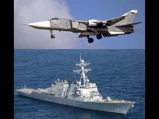 Су-24 и «Дональд Кук» Russian Warplanes Fly Close to U.S. Navy Destroyer