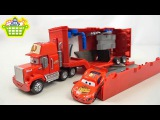 Автовоз Мак и Молния МакКуин из мультика Тачки - Disney Cars Mack Truck  and  Lightning McQueen