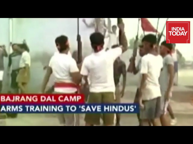 Bajrang Dal Conducts Arms Training With Rifles And Swords