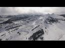 Снежный Ай-Петри. Съемка с воздуха. / Winter Ai-Petri, Crimea / Аэросъемка