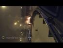 На 24 км МКАД ночью сгорел автомобиль Нива