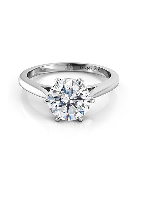 Rvc892n SkQ - Обручальные кольца с бриллиантами круглой огранки (60 фото)